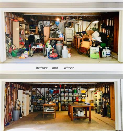 Before and After Garage Organization