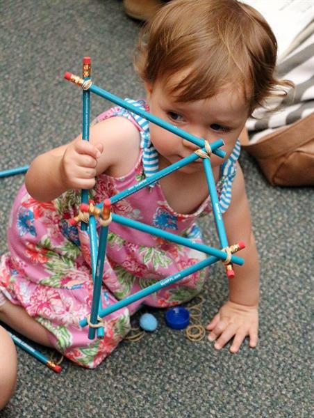 Children of all ages create structures with the help of our STEAM team at the Southwest Branch Library