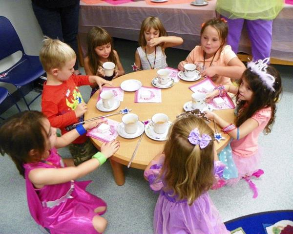 Friends of SWBL sponsored a 'Fancy Nancy' tea party with lemonade, cookies and trinkets and a story.