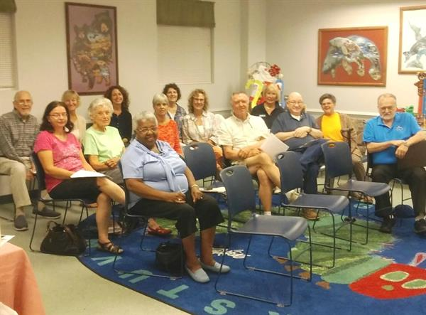 Friends members gather at a quarterly member meeting at The Southwest Branch Library