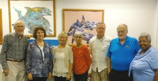 Outgoing & incoming Friends Board members: Gene & Cathy Ingram, Beverly Johnson, August Schmidt, Bill Stromquist, Jeannette Phillips