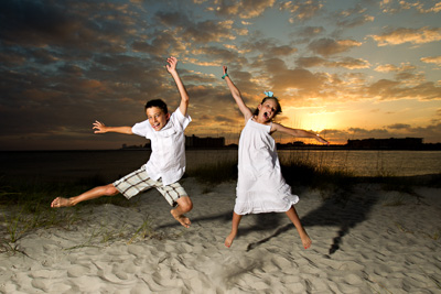 Beach Family Photography  Orange Beach sunset