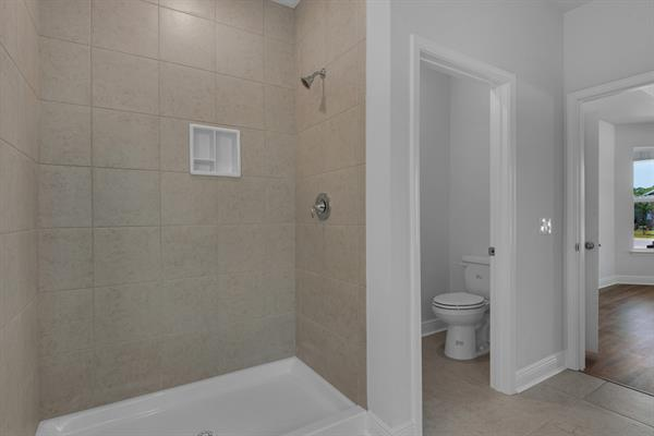Master Shower and Separate Water Closet