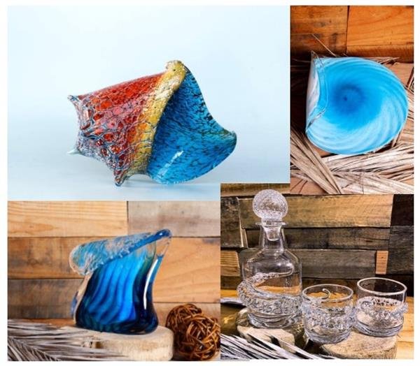 We over local made blown glass by Joe Hobbs
