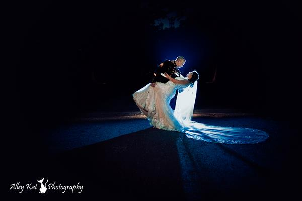 Night time wedding photo - Alley Kat Photography - www.alleykatphotography.net