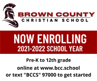Brown County Christian School - Now Enrolling