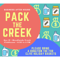 "November Business After Hours: ""Pack the Creek"" Event"