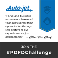 AUTO-JET GIVES BACK TO CLIVE POLICE AND FIRE DEPARTMENTS, CREATES #PDFDCHALLENGE