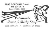 Coleman's Paint & Body Shop
