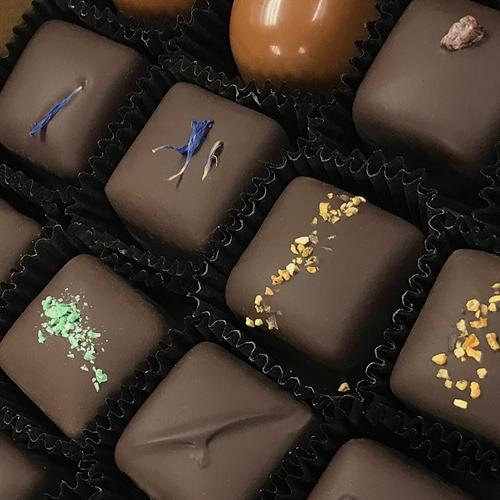 Each truffles, bonbon, caramel, bark - we know each by name