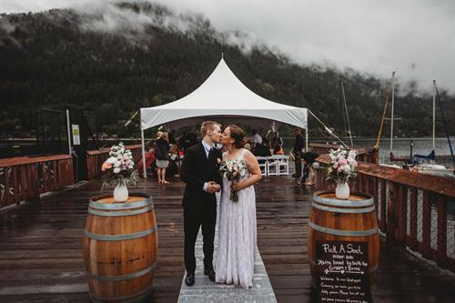 Nelson Lakeside Wedding Day - Photo Credit: Wanderlust Photography