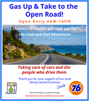Gas Up & Go! Visit Charlie's Union 76 Station