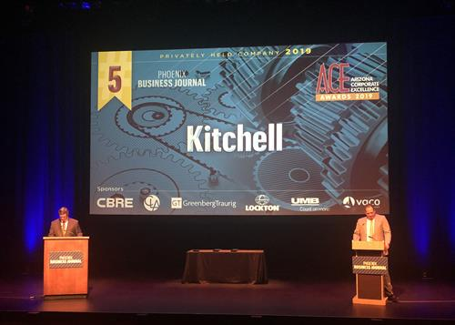 Kitchell was named the #5 Top Private Company in Arizona.
