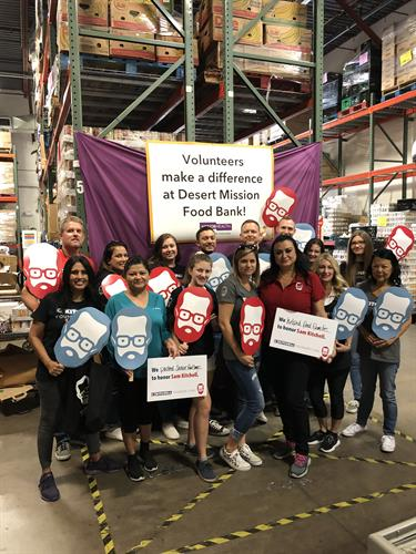 Founder's Day volunteers at Desert Mission Food Bank.