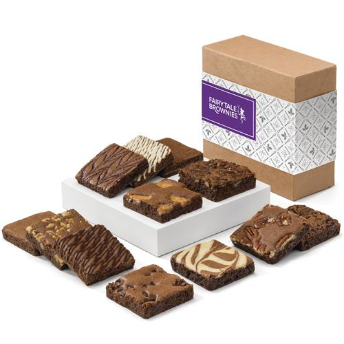 "The Fairytale Dozen - Twelve tempting brownie flavors in 3"" x 3"" fudgy squares. Individually wrapped."
