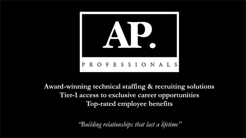 Award-winning Technical Staffing & Recruiting Solutions, Tier-1 Access to Exclusive Career Opportunities, Top-Rated Employee Benefits.