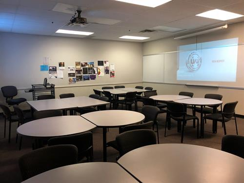 One of our many classrooms for rental for meetings, seminars, etc.