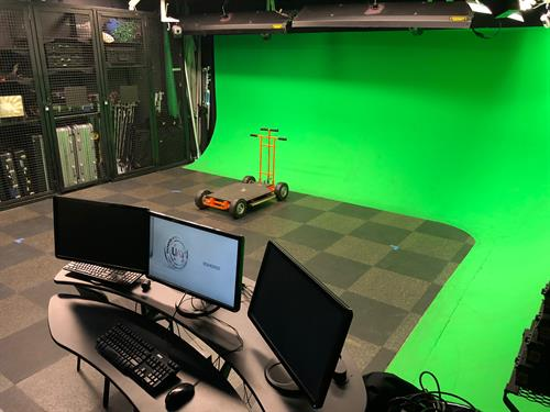 Rent our Motion Capture Studio has green screen, 2K video capabilities, mobile video and drones