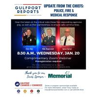 Chamber's Gulfport Reports to feature update from Police, Fire, Medical Response Chiefs