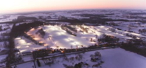 Sunburst Ski Area at Night