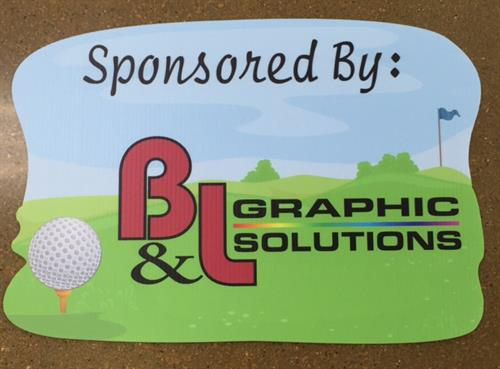 Custom Golf Outing Yard Sign