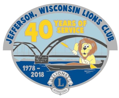 Jefferson Lions Club 40th Anniversary Pin