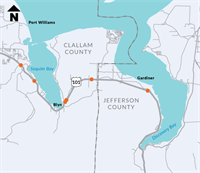 Traffic Info on US 101 - Jefferson and Clallam Counties Fish Barriers - Remove Fish Barriers