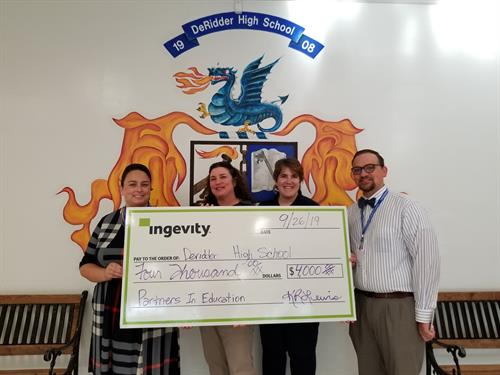 Ingevity 2019 DHS Partners in Education Donation