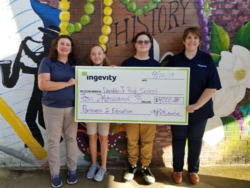 Ingevity 2019 DeRidder Jr. High School Partners in Education Donation