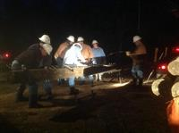 Linemen respond to outage calls - day or night.