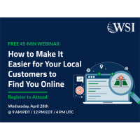 WSI - FREE WEBINAR: HOW TO MAKE IT EASIER FOR YOUR LOCAL CUSTOMERS TO FIND YOU ONLINE