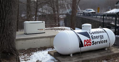 Supply propane for back up generators