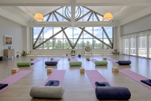 Find a state of harmony by practicing yoga sessions at this yoga room at YO1