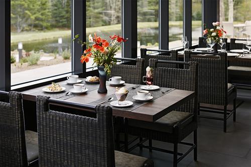 Sunroom dining area.