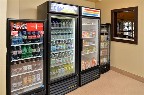"Visit our ""Sweet Shop"" for a variety of food and beverage choices."