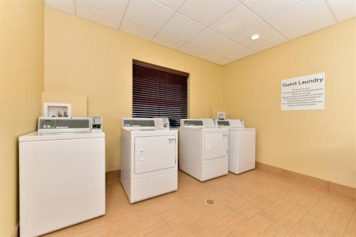 Guest Laundry is accessible 24/7 for convenience.