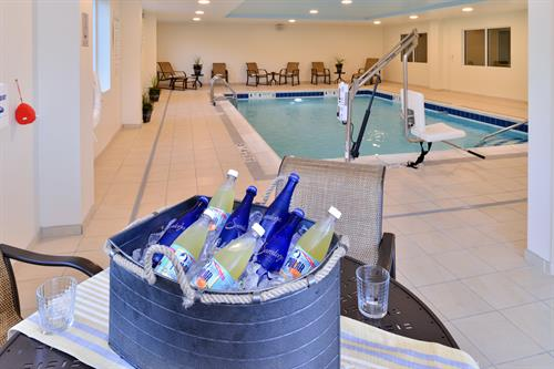 Our indoor heated pool is a great way to relax and enjoy as an added feature to your stay with us!