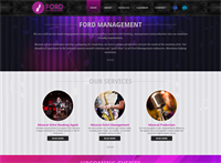 Website we created for a music management company