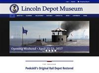 Lincoln Depot Museum website we created