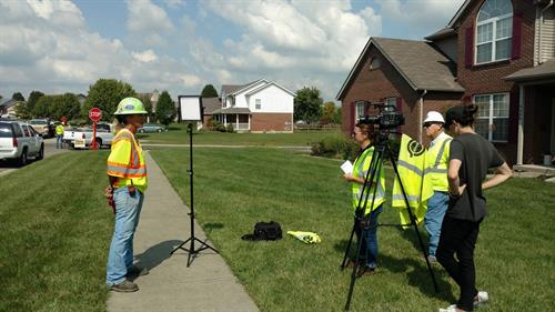 On Location in Ohio for Barrett Industries