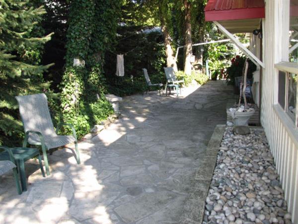Shaded side yard