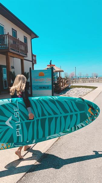Paddle board rentals along with kayaks & fat tire bikes
