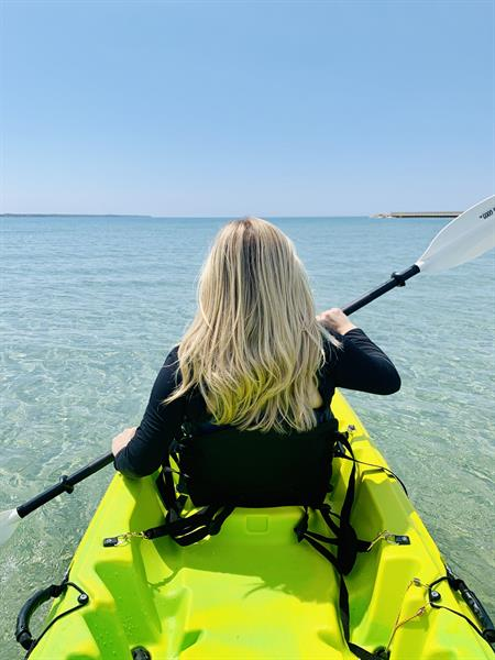 Beach rentals on site; kayaks, paddle boards, fat tire bikes