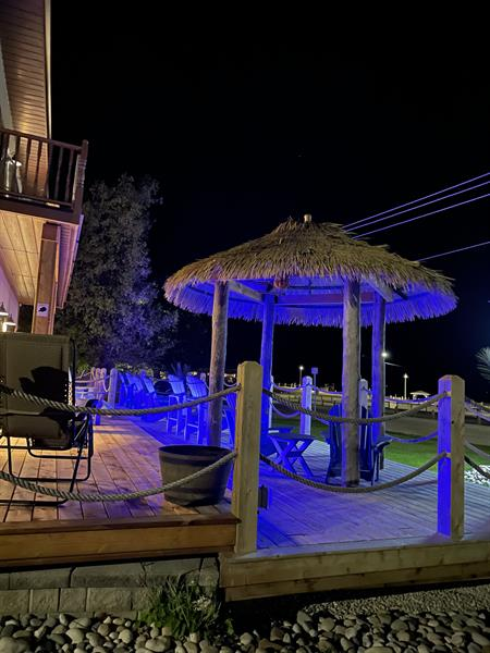 Our tiki deck is loved by guests
