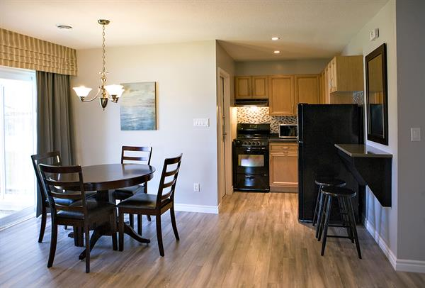 We have kitchenettes available in some of our suites. Contact Guest Services for more information.