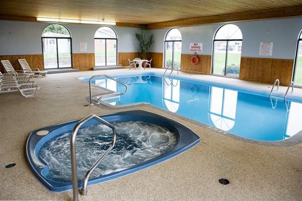 Our indoor pool and hot tub can be enjoyed year round