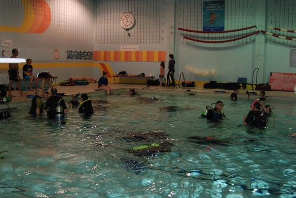 Pool training session in Kincardine