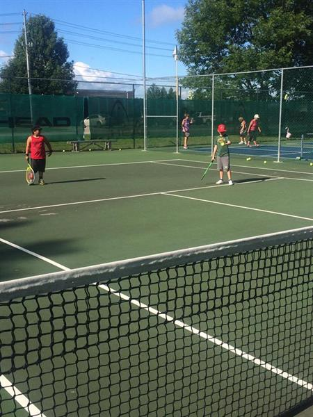 Junior tennis lessons all summer.  Private lessons are also available.