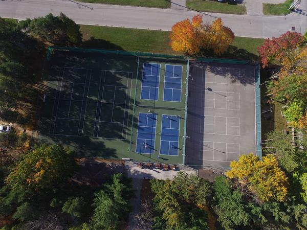 Aerial view of our courts