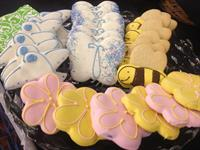 The best sugar cookies in town!  Decorated with white chocolate